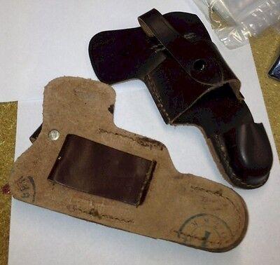 Russian Makarov Leather Skeleton Secret Police Pistol Belt Gun Holster