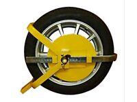HEAVY DUTY WHEEL CLAMP LOCK FOR CAR/ CARAVAN/TRAILER