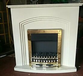Coal Effect Electric Fire and Surround