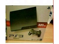 Boxed mint condition 320gb black ps3
