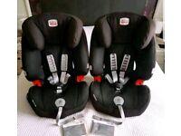 BRITAX EVOLVA 1-2-3 PLUS car seat 9 - 36kg x 2.