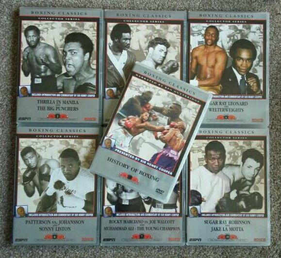 7 x Boxing ESPN Boxing Classics DVDs