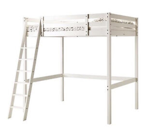 WHITE STAIN - DOUBLE LOFT BED - WOODEN - NEW!! Hamersley Stirling Area Preview