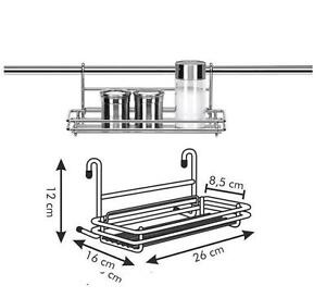 Mensola x barra da cucina acciaio tescoma serie monti - Portamestoli ikea ...
