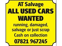 Cars wanted Scrap car collection scrapping my car cash damaged repairable salvage runner old and new