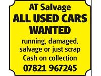 Any used cars £130+ cash today scrap damaged runner salvage or scrap my car scrap a car collection