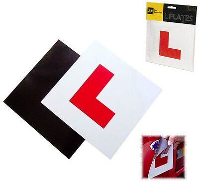 PACK OF 2 AA FULLY MAGNETIC SECURE LEARNER DRIVER L PLATES EXTERIOR CAR BIKE
