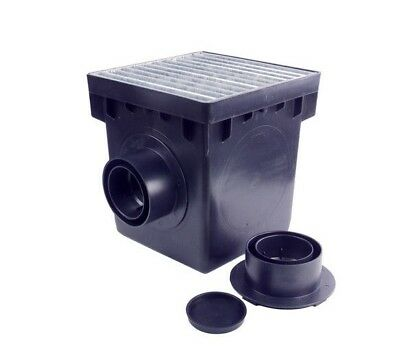 NDS L1200MTLKIT 12-In L X 12-In W Catch Basin Kit Outdoor Drainage NEW FSH
