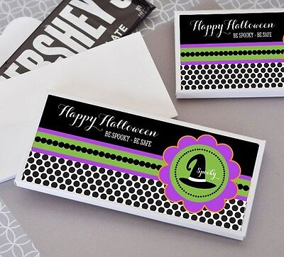 24 Personalized Spooky Halloween Candy Bar Wrappers Party Favors](Candy Bar Wrappers Halloween)