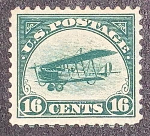 Travelstamps: 1918 US Stamps Scott# C2 Air Mail Curtiss Jenny Mint, NG 16 cents