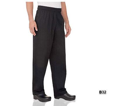 Chef Works Mens Essential Baggy Chef Pants Black 2xlb32