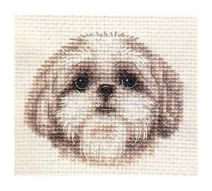 SHIH TZU puppy, dog ~ Full counted cross stitch kit, all materials