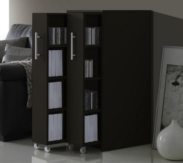 MultiMedia Storage Bookcase Cabinet Book Shelf Wall Shelves DVD Rack Organizer