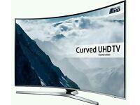 Samsung 65 inch curved uhd smart led TV 2017 model Ue65ku6100..