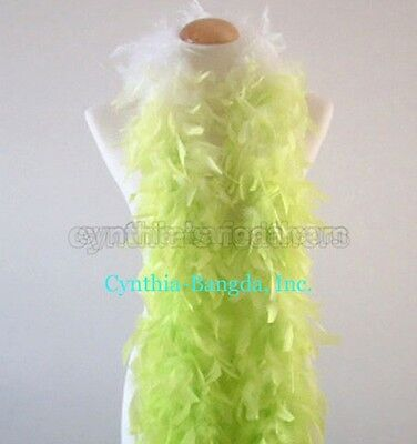 Lime Green shade 65 Grams Chandelle Feather Boa   Party Halloween Costume  ()