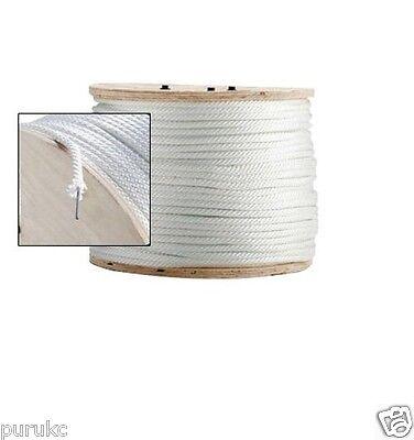 Solid Braid Nylon Rope Wire Center Core 5/16