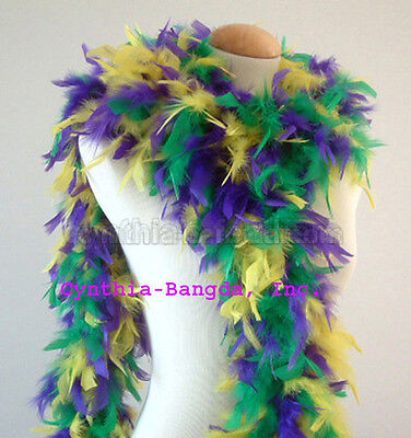 Mardi Gras 65 Grams Chandelle Feather Boa   Party Halloween Costume