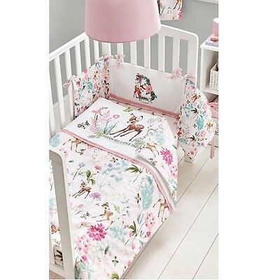 Disney Bambi Baby Girl Pink Cot Bed Bedding 4tog Quilt Toddler for sale  Shipping to South Africa