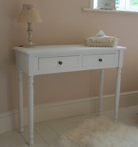 white dressing table console bedroom furniture wooden shabby vintage chic home