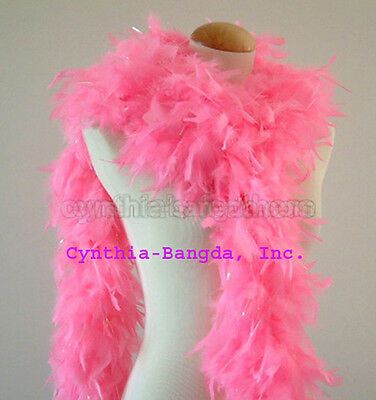 Candy Pink w/ lurex 65 Grams Chandelle Feather Boa   Party Halloween Costume - Halloween Candy Grams