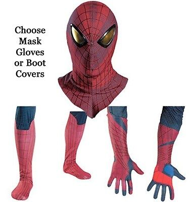 Adult Marvel Movie The Amazing Spider-Man Mask Gloves / Boot Costume Accessories](Spider Costume Accessories)