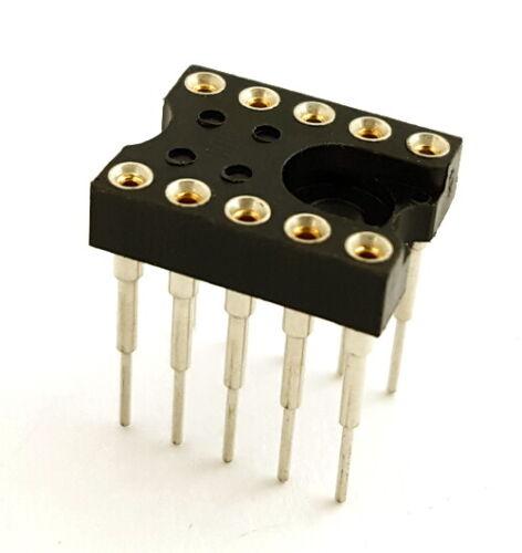 10 Pin Machine IC Sockets Elevated Long Pins Samtec ICS-310-EGT (25 pieces)
