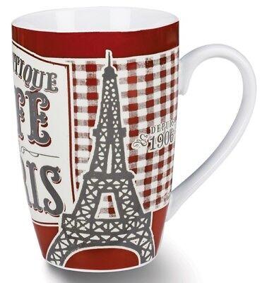 Kaffeebecher Café Paris 450 ml Tasse Kaffeetasse Porzellantasse Retro Vintage