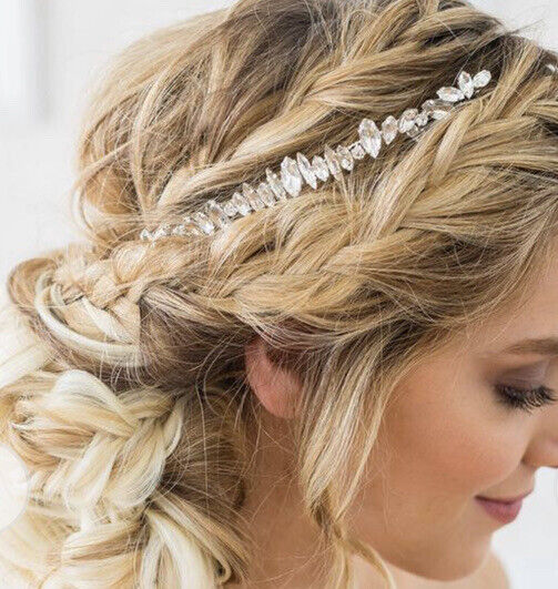NEW Brides and Hairpins Crystal Halo Hair Comb in Silver