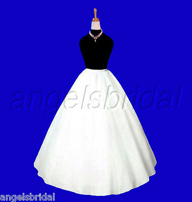 A-LINE HOOPLESS BRIDAL WEDDING GOWN PROM DRESS PETTICOAT CRINOLINE SKIRT SLIP for sale  Shipping to United Kingdom