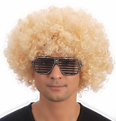 Blond Afro Perücke Kostüm Party Clown Funky Disco Herren Damen 70S Haar - Blonde Disco Kostüm Perücke