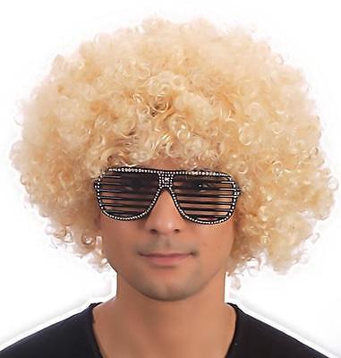 Halloween Unisex Hombre Mujer Rubia Grande Peluca Afro Funk Disco Disfraz