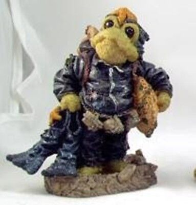 Boyds Bears Wee Folkstone BRIDGES SCUBA FROG-He's All Wet Swimming Vacation