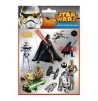 Star warsSilver Stickers vel A6 plus briefkaart