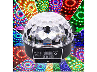 New LED Laser Crystal Magic Ball Remote Control DMX Auto-Play Sound-Active Home Party Disco DJ