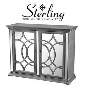 NEW STERLING MIRROR CHEST CABINET - 115779954 - Kiruna Black, White Dust, Clear Mirror Cabinet