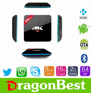 T96 Pro Ultra HD 4K Android TV Box with 3GB RAM/32GB ROM powered