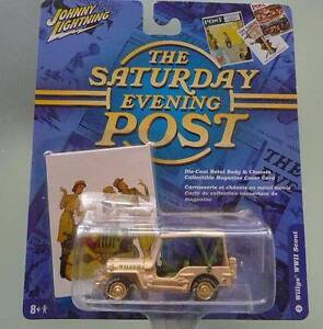 """Johnny Lightning """"Saturday Evening Post"""" Willys WWII Jeep Scout Ocean Reef Joondalup Area Preview"""