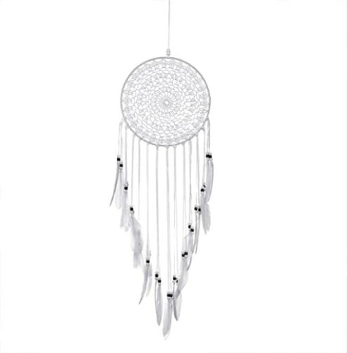 Handmade White Feather Dreamcatchers for Wall Hanging