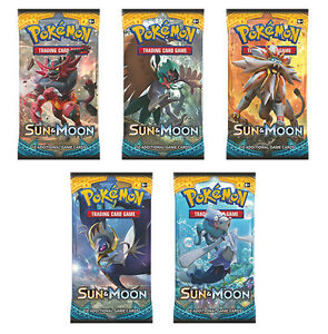 Pokemon Sun & Moon Booster Packs