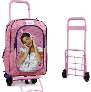 violetta trolley sac cartable roulettes disney licence. Black Bedroom Furniture Sets. Home Design Ideas