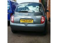 NissanMicra MOTAug2017 full-serviced 2new tyres newbattery starts first time selling due to moving