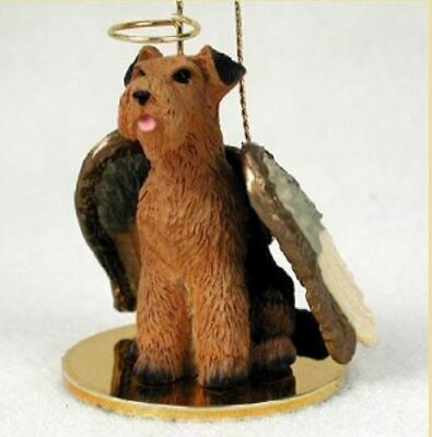 AIREDALE TERRIER ANGEL DOG CHRISTMAS ORNAMENT HOLIDAY Figurine Memorial gift