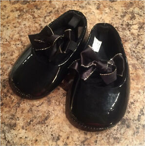 Baby Girl Dressy Black Shoes 6-9 Months