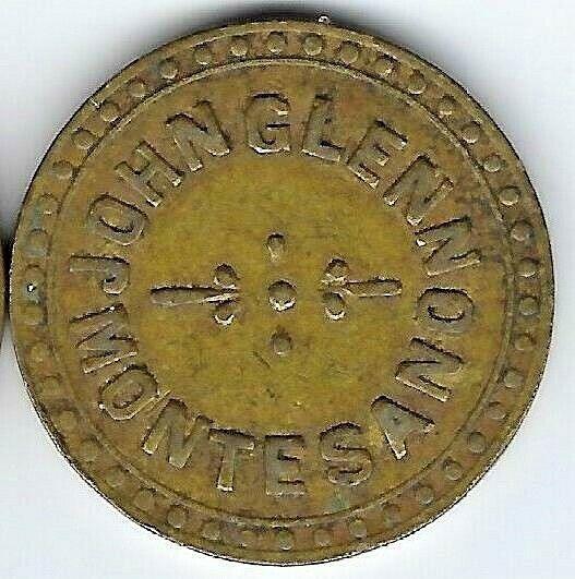 C 1900 MONTESANO WASH. GOOD FOR 5 TOKEN - JOHN GLENN - CIGAR TOBACCO DEALER - $8.99