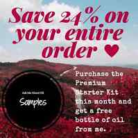Essential Oils: 24% off. Free Shipping. Samples.