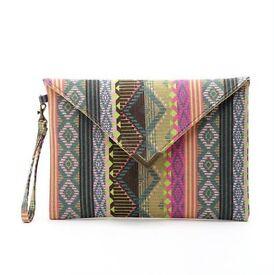 Geometric Envelope Canvas Bag