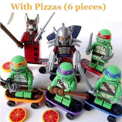 TMNT 6Pcs Set Ninja Mutant Turtles Teenage Mini Figur Spielzeug Kinder Geschenk