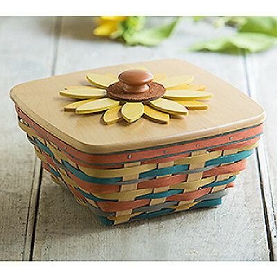 Longaberger 2016 Collector's Club Sunflower Basket set NEW in hand!