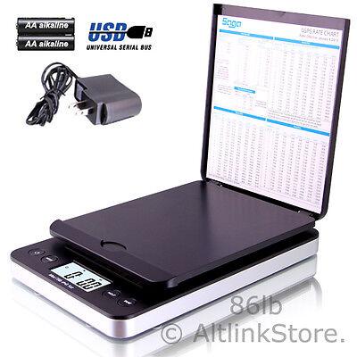SAGA Digital Postal Scale 86lb X 0.1oz Shipping Scale Weight Postage W/AC In USB