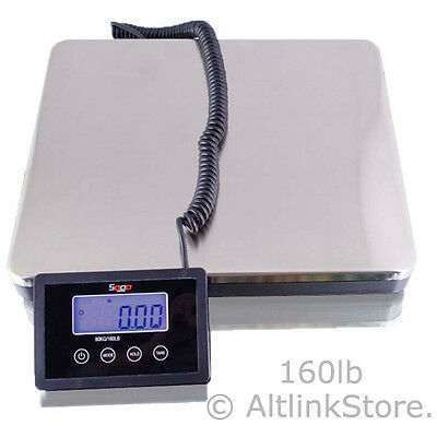 Saga 160 Lb X 0.1 S Digital Postal Scale For Shipping Weight Postage Wac 76 Kg